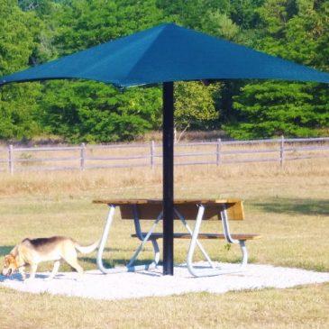 New Dog Park Shelter